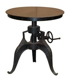 Eisen Side Table Round Crank Side Table 22x22x22/28h