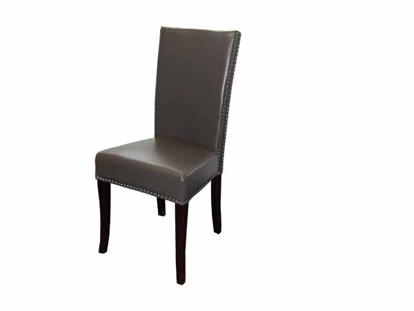 Melissa Dining Chair In PU8145 Dark Taupe Faux Leather