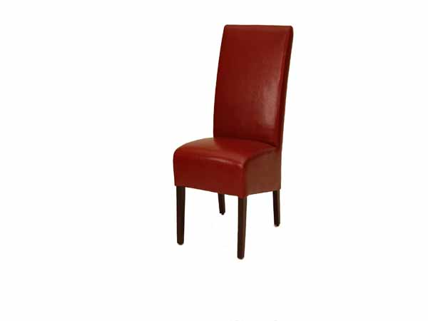 Paris Dining Chair In SAK005 Red Leather