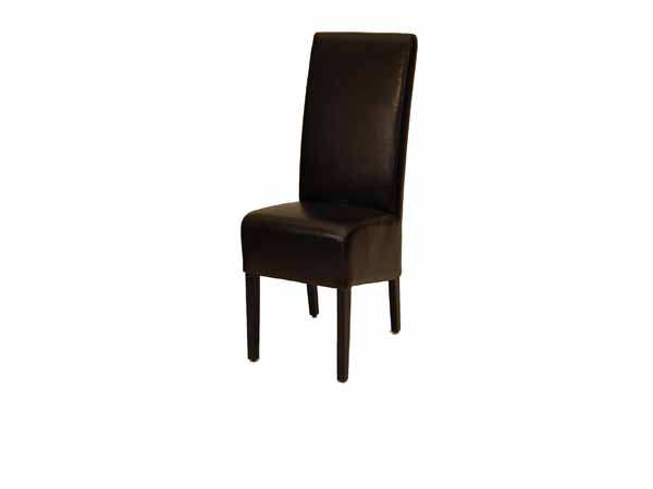 Paris Dining Chair  In TW270 Black Leather