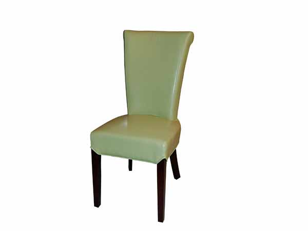 Preston Dining Chair In SAK257 Key Lime Leather