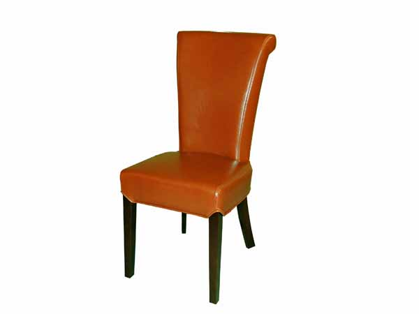 Preston Dining Chair In SAK267 Terra Cotta Leather