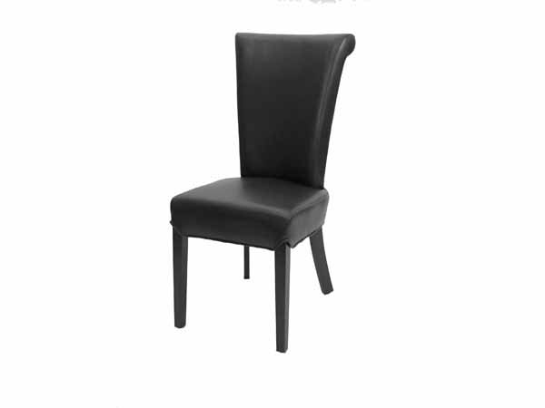 Preston Dining Chair In SFG010 Black Leather