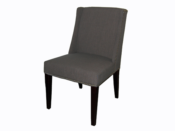 Sawyer Dining Chair FAB168-11 In Dark Charcoal Fabric
