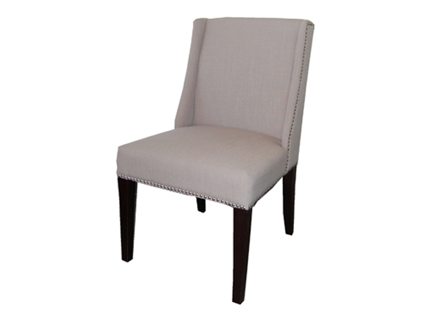 Sawyer Dining Chair In FAB168-3 Light Grey Fabric Dayton
