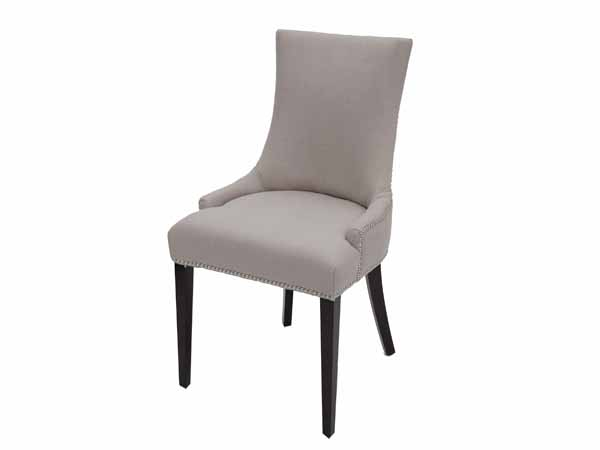 Seattle Dining Chair In FAB168-3 Light Grey Fabric Fabric