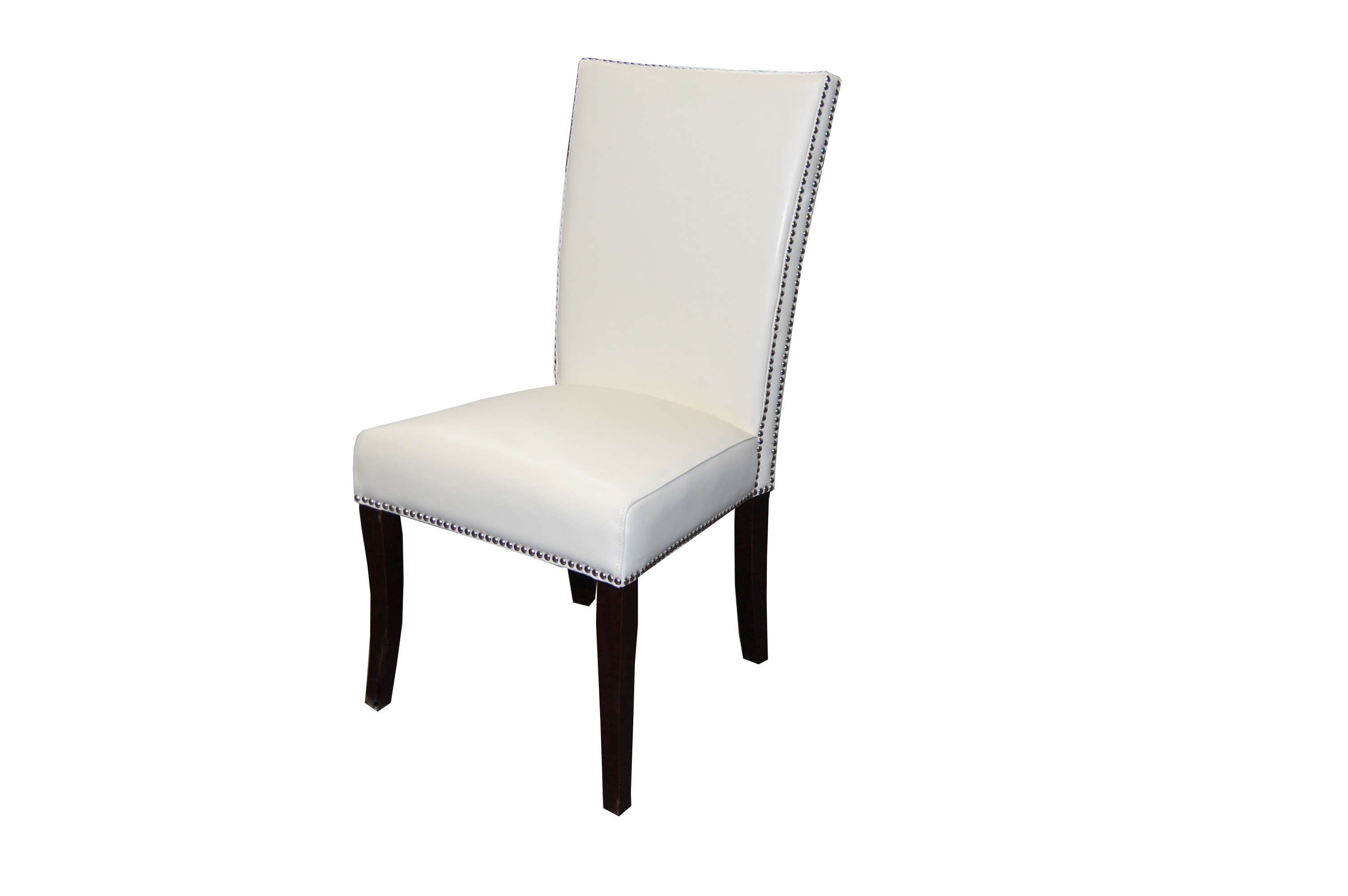 Melissa Dining Chair In PU106 White Faux Leather