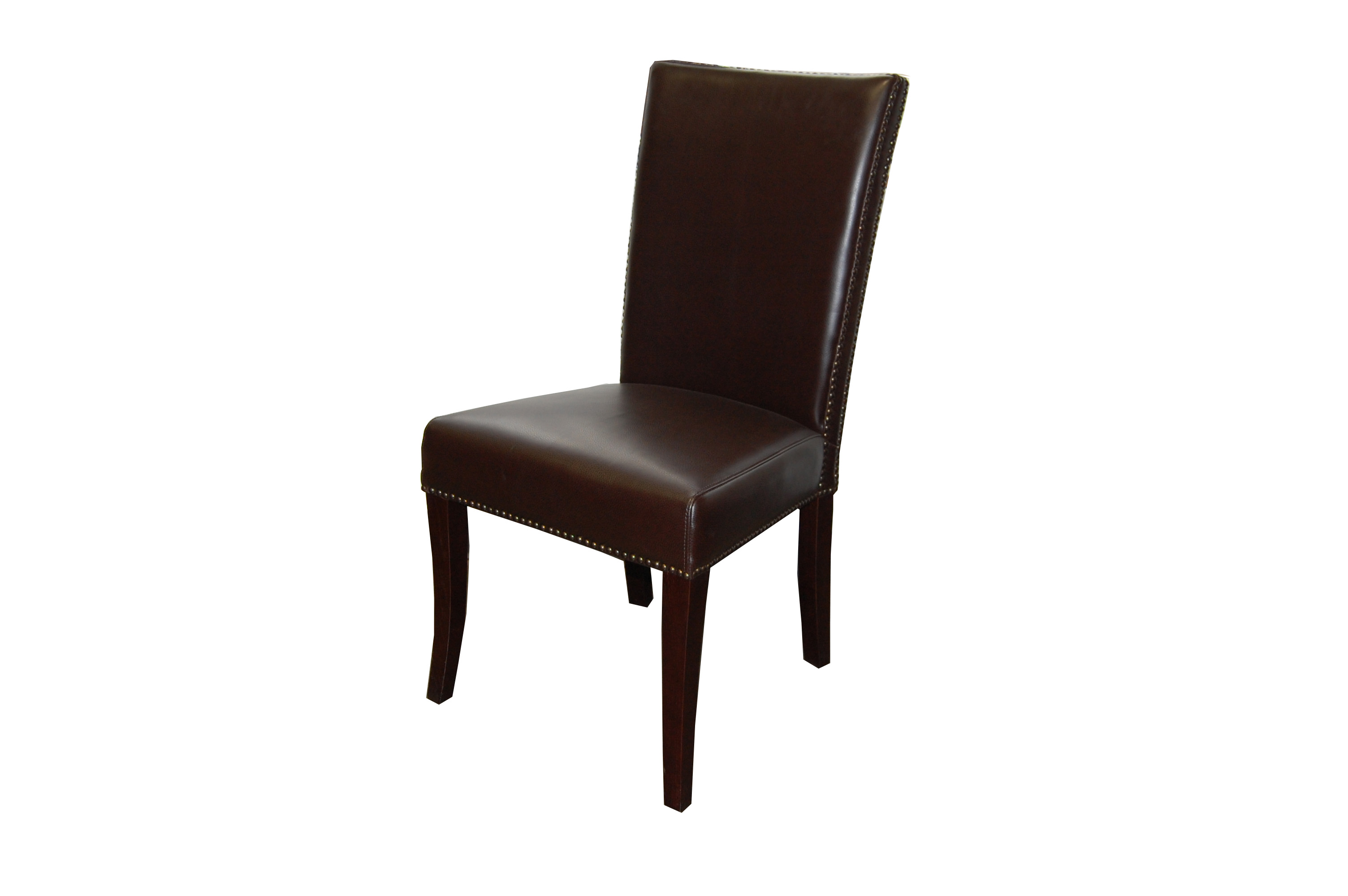 Melissa Dining Chair In PU206 Chocolate Brown Faux Leather