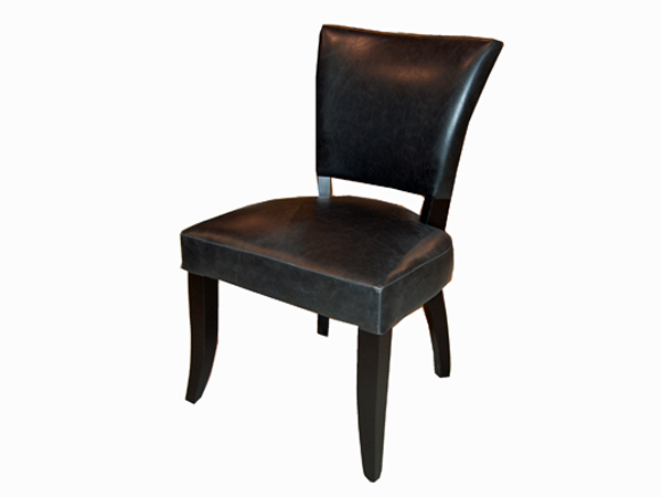 Norris Dining Chair In TWL106 Black Antique Faux Leather